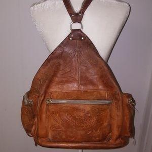 Vintage Leather Large Backpack